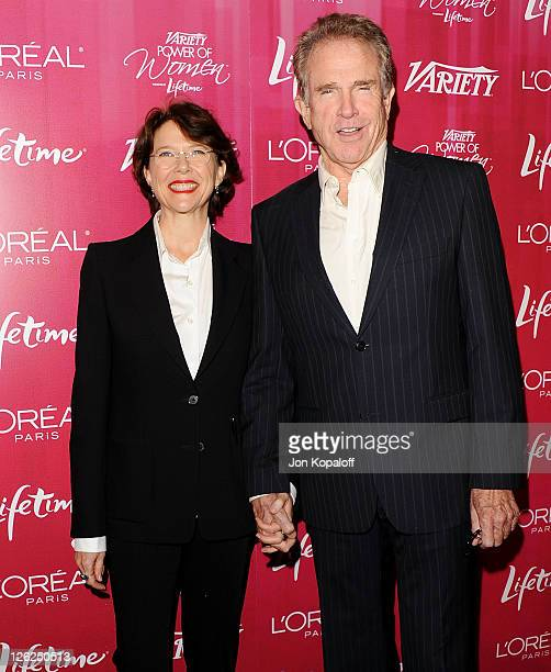 Actress Annette Bening and husband actor Warren Beatty arrive at Variety's 3rd Annual Power Of Women Luncheon at the Beverly Wilshire Four Seasons...