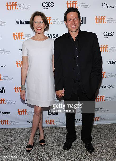 Actress Annette Bening and Writer/Director Arie Posin arrive at 'The Face Of Love' Premiere during the 2013 Toronto International Film Festivalat The...