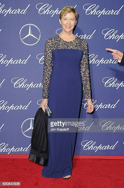 Actress Annette Bening arrives at the 28th Annual Palm Springs International Film Festival Film Awards Gala at Palm Springs Convention Center on...