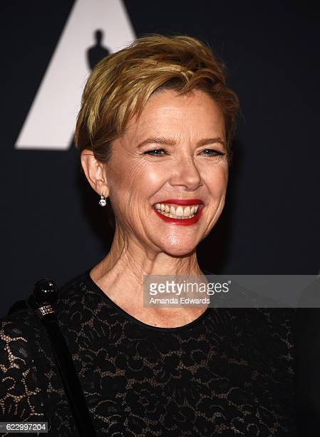 Actress Annette Bening arrives at the Academy of Motion Picture Arts and Sciences' 8th Annual Governors Awards at The Ray Dolby Ballroom at Hollywood...