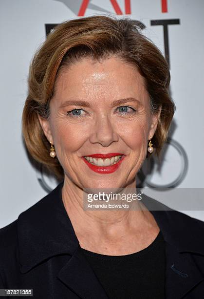 Actress Annette Bening arrives at the AFI FEST 2013 Presented By Audi Spotlight On Annette Bening event at the Egyptian Theatre on November 12 2013...