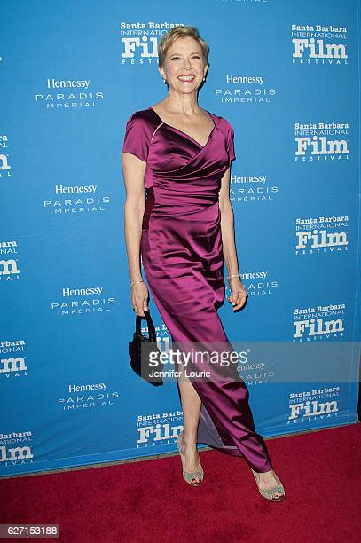 Actress Annette Bening arrives at the Santa Barbara International Film Festival honors Warren Beatty with the 11th Annual Kirk Douglas Award for...