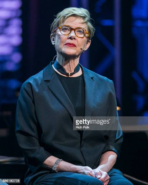 Actress Annette Bening at the Center Theatre Group 50th Anniversary Celebration at Ahmanson Theatre on May 20 2017 in Los Angeles California