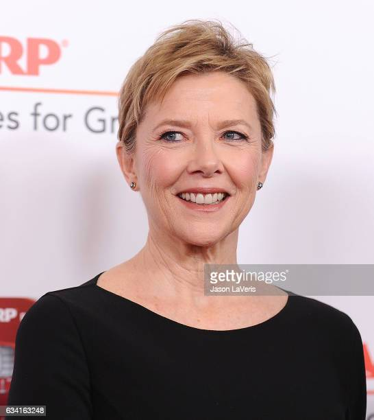 Actress Annette Bening attends AARP's 16th annual Movies For Grownups Awards at the Beverly Wilshire Four Seasons Hotel on February 6 2017 in Beverly...