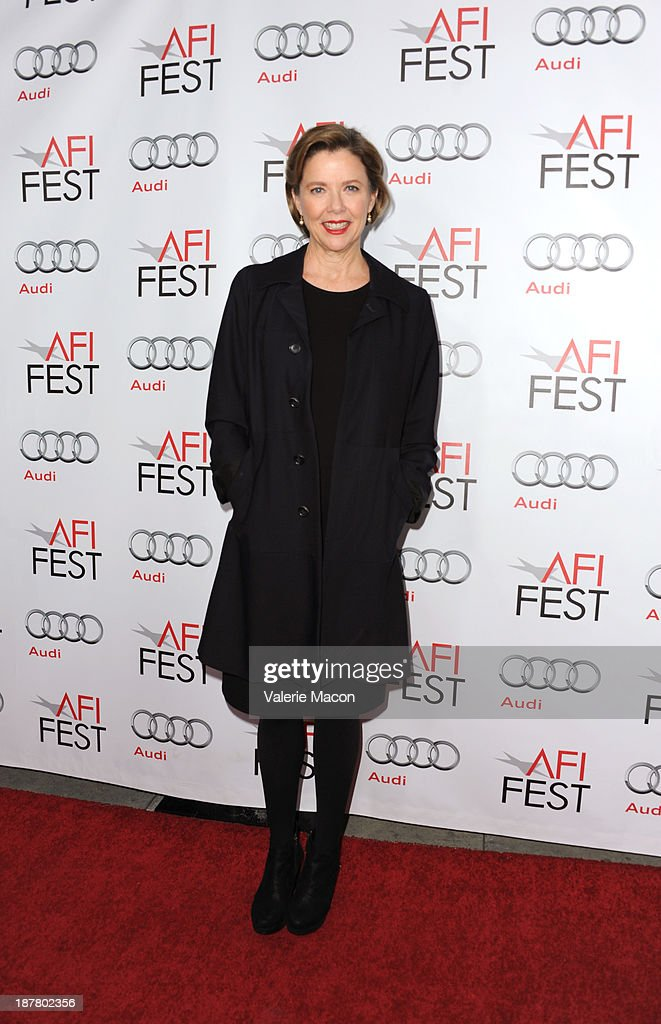 Actress <a gi-track='captionPersonalityLinkClicked' href=/galleries/search?phrase=Annette+Bening&family=editorial&specificpeople=202568 ng-click='$event.stopPropagation()'>Annette Bening</a> attends 'Conversation With <a gi-track='captionPersonalityLinkClicked' href=/galleries/search?phrase=Annette+Bening&family=editorial&specificpeople=202568 ng-click='$event.stopPropagation()'>Annette Bening</a>' during AFI FEST 2013 presented by Audi at the Egyptian Theatre on November 12, 2013 in Hollywood, California.
