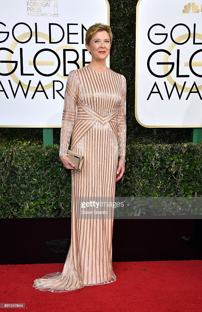 Actress Annette Bening attends the 74th Annual Golden Globe Awards at The Beverly Hilton Hotel on January 8, 2017 in Beverly Hills, California.