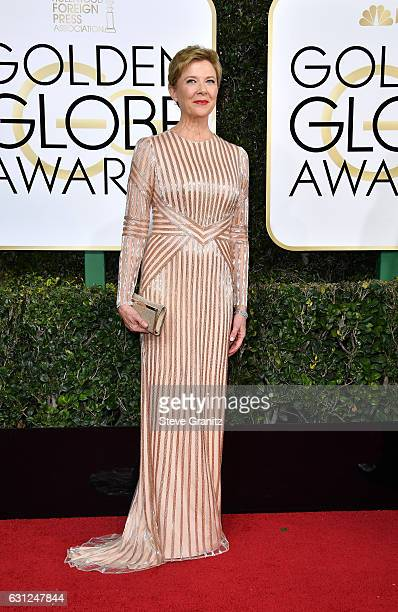 Actress Annette Bening attends the 74th Annual Golden Globe Awards at The Beverly Hilton Hotel on January 8 2017 in Beverly Hills California