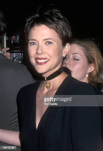 Actress Annette Bening attends the Circle in the Square Theatre's 45th Anniversary Celebration on May 20 1996 at Circle in the Square Theatre in New...