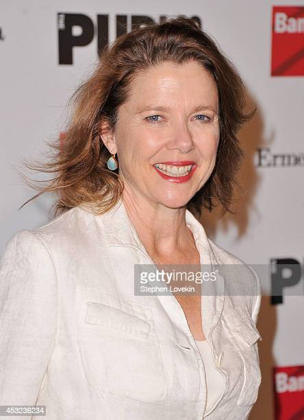 Actress Annette Bening attends the curtain call for The Public Theatre's Opening Night Performance of 'King Lear' at Delacorte Theater on August 5...