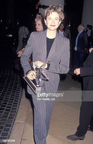 Actress Annette Bening attends the Hollywood Women's Press Club's 54th Annual Golden Apple Awards on December 11 1994 at Beverly Hilton Hotel in...