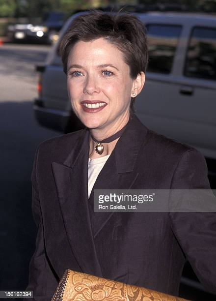 Actress Annette Bening attends the Hollywood Women's Press Club's 55th Annual Golden Apple Awards on December 10 1995 at Beverly Hills Hotel in...