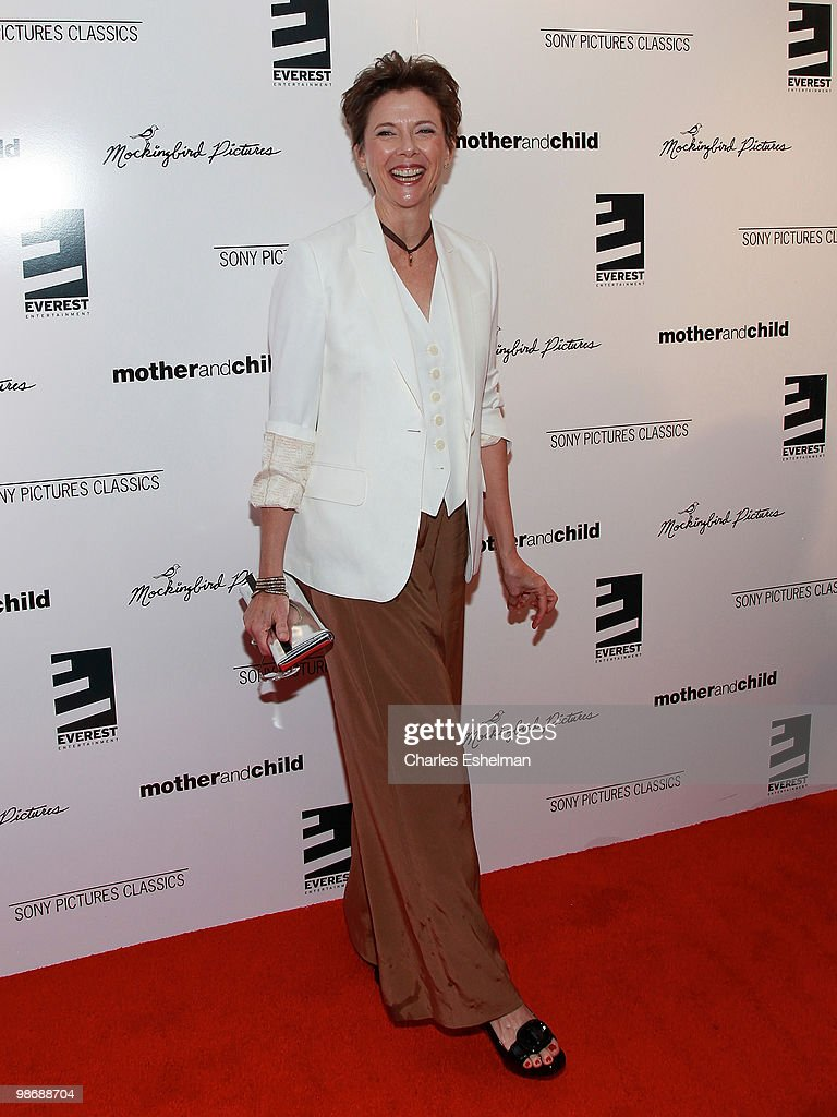 Actress <a gi-track='captionPersonalityLinkClicked' href=/galleries/search?phrase=Annette+Bening&family=editorial&specificpeople=202568 ng-click='$event.stopPropagation()'>Annette Bening</a> attends the 'Mother and Child' premiere at the Paris Theatre on April 26, 2010 in New York City.