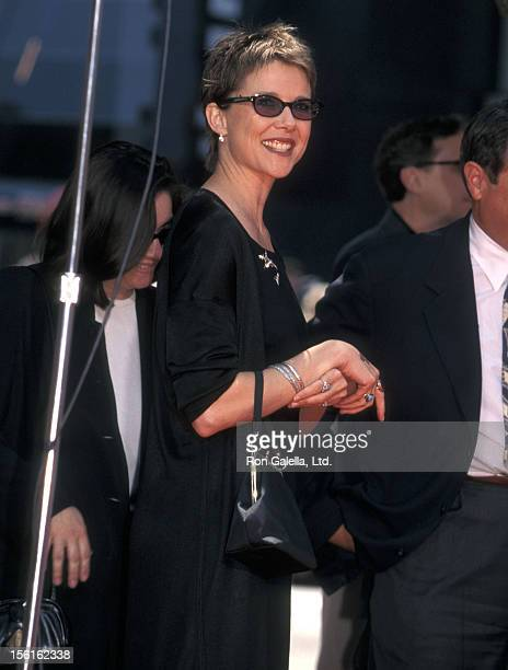 Actress Annette Bening attends Warren Beatty's hand and footprints in cement ceremony on May 21 1998 at Mann's Chinese Theatre in Hollywood California