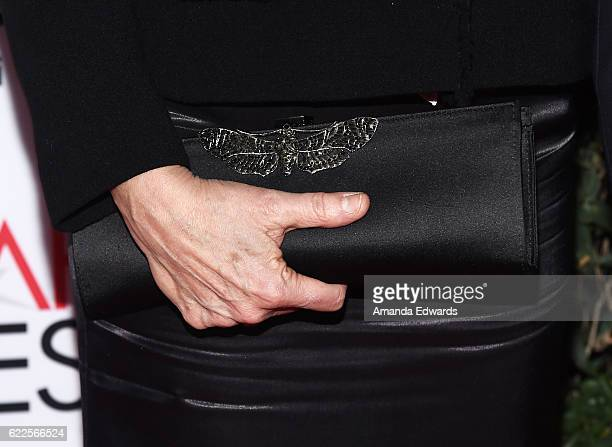 Actress Annette Bening clutch detail arrives at the AFI FEST 2016 Presented by Audi Opening Night Premiere of 20th Century Fox's 'Rules Don't Apply'...
