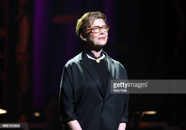 Actress Annette Bening onstage at the Center Theatre Group 50th Anniversary Celebration at Ahmanson Theatre on May 20 2017 in Los Angeles California