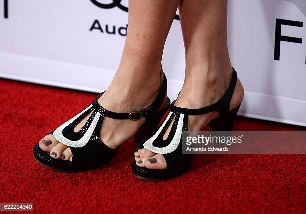 Actress Annette Bening shoe detail arrives at the AFI FEST 2016 Presented by Audi Opening Night Premiere of 20th Century Fox's 'Rules Don't Apply' at...