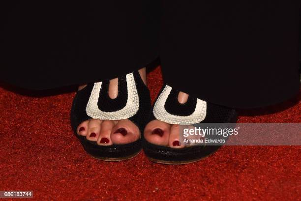 Actress Annette Bening shoe detail attends the Center Theatre Group's 50th Anniversary Celebration at the Ahmanson Theatre on May 20 2017 in Los...