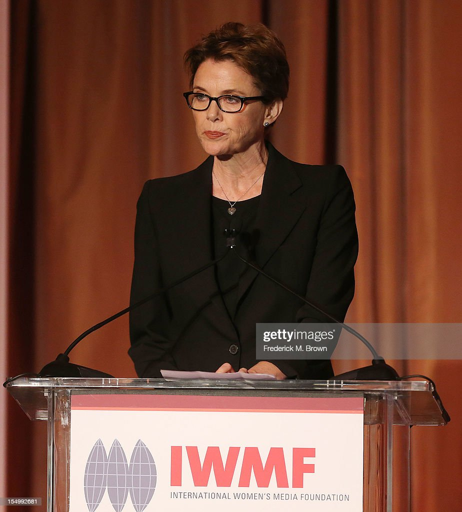 Actress Annette Bening speaks during the 2012 International Women's Media Foundation's Courage In Journalism Awards at The Beverly Hills Hotel on October 29, 2012 in Beverly Hills, California.