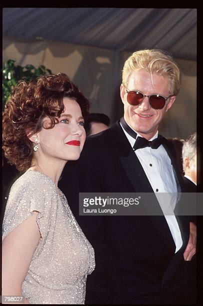Actress Annette Benning poses with actor Ed Begley Jr March 25 1991 in Los Angeles CA The Academy Awards are the foremost national film awards in the...