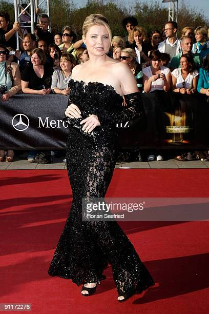 Actress Annette Frier arrives for the German TV Award 2009 at the Coloneum on September 26 2009 in Cologne Germany