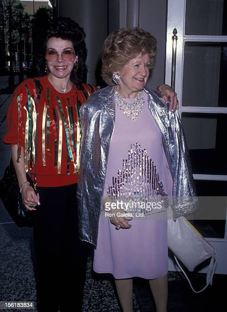 Actress Annette Funicello attends 50th Annual Motion Picture Christmas Luncheon on December 9 1989 at the Beverly Wilshire Hotel in Beverly Hills...