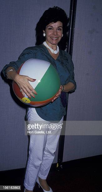 Actress Annette Funicello attends the press conference for 'Back To The Beach' on July 28 1987 at the World Trade Center in New York City