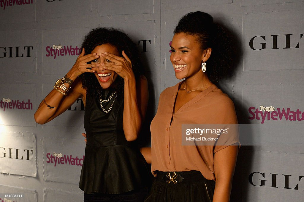 Actress Annie Ilonzeh and guest attend People StyleWatch Denim Awards presented by GILT at Palihouse on September 19 2013 in West Hollywood California