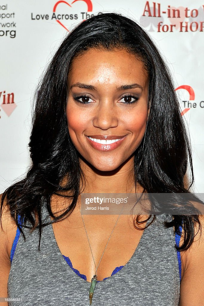 Actress Annie Ilonzeh arrives at 'In To Win For Hope' No Limit Texas Hold'em Celebrity Charity Poker Tournament at Commerce Casino on October 6, 2012 in City of Commerce, California.