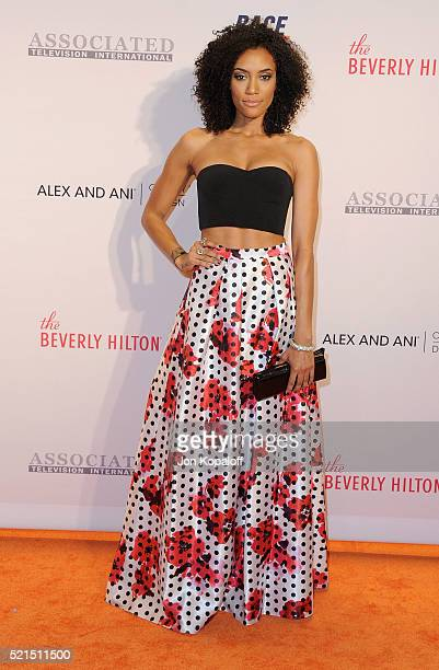 Actress Annie Ilonzeh arrives at the 23rd Annual Race To Erase MS Gala at The Beverly Hilton Hotel on April 15 2016 in Beverly Hills California