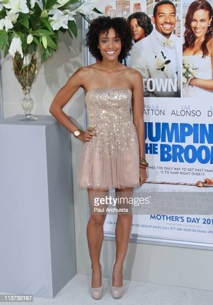 Actress Annie Ilonzeh arrives at the 'Jumping The Broom' Los Angeles premiere at ArcLight Cinemas Cinerama Dome on May 4 2011 in Hollywood California