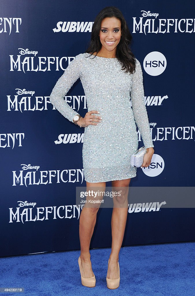 Actress Annie Ilonzeh arrives at the Los Angeles Premiere 'Maleficent' at the El Capitan Theatre on May 28 2014 in Hollywood California