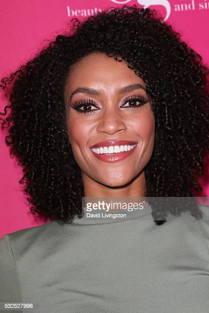 Actress Annie Ilonzeh arrives at the OK Magazine's So Sexy LA at the Skybar at Mondrian on May 18 2016 in West Hollywood California