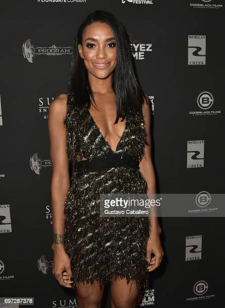 Actress Annie Ilonzeh attends the All Eyez on Me ABFF Screening at Regal South Beach Cinema on June 17 2017 in Miami Florida