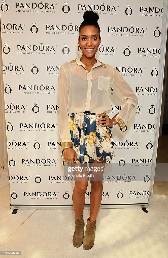 Actress Annie Ilonzeh attends the HBO Luxury Lounge featuring PANDORA at Four Seasons Hotel Los Angeles at Beverly Hills on August 23 2014 in Beverly...