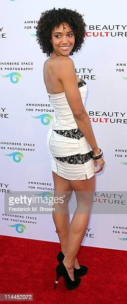 Actress Annie Ilonzeh attends the Opening Night of 'Beauty Culture' at The Annenberg Space For Photography on May 19 2011 in Century City California