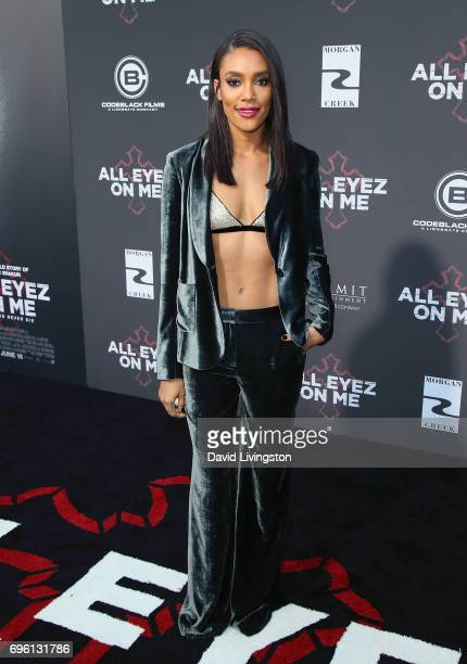 Actress Annie Ilonzeh attends the premiere of Lionsgate's 'All Eyez On Me' on June 14 2017 in Los Angeles California