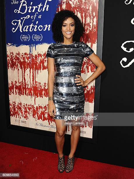 Actress Annie Ilonzeh attends the premiere of 'The Birth of a Nation' at ArcLight Cinemas Cinerama Dome on September 21 2016 in Hollywood California