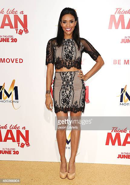 Actress Annie Ilonzeh attends the premiere of 'Think Like A Man Too' at TCL Chinese Theatre on June 9 2014 in Hollywood California