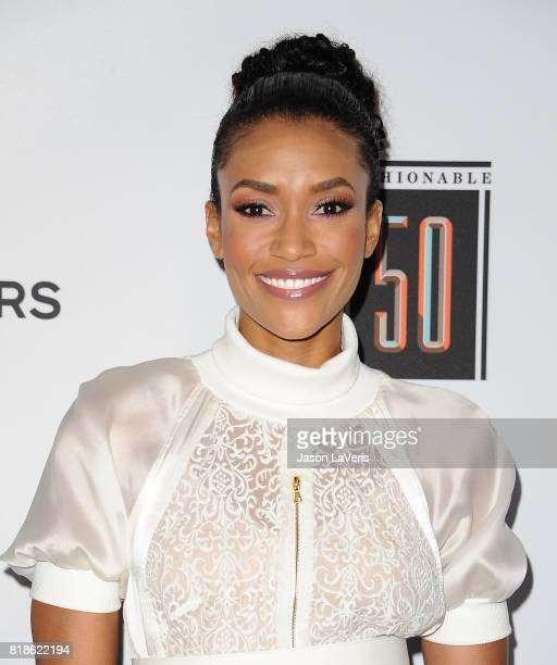 Actress Annie Ilonzeh attends the Sports Illustrated Fashionable 50 event at Avenue on July 18 2017 in Los Angeles California