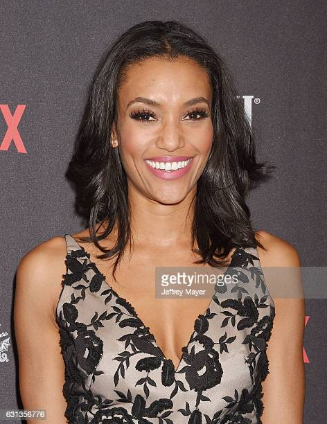 Actress Annie Ilonzeh attends The Weinstein Company and Netflix Golden Globe Party presented with FIJI Water Grey Goose Vodka Lindt Chocolate and...