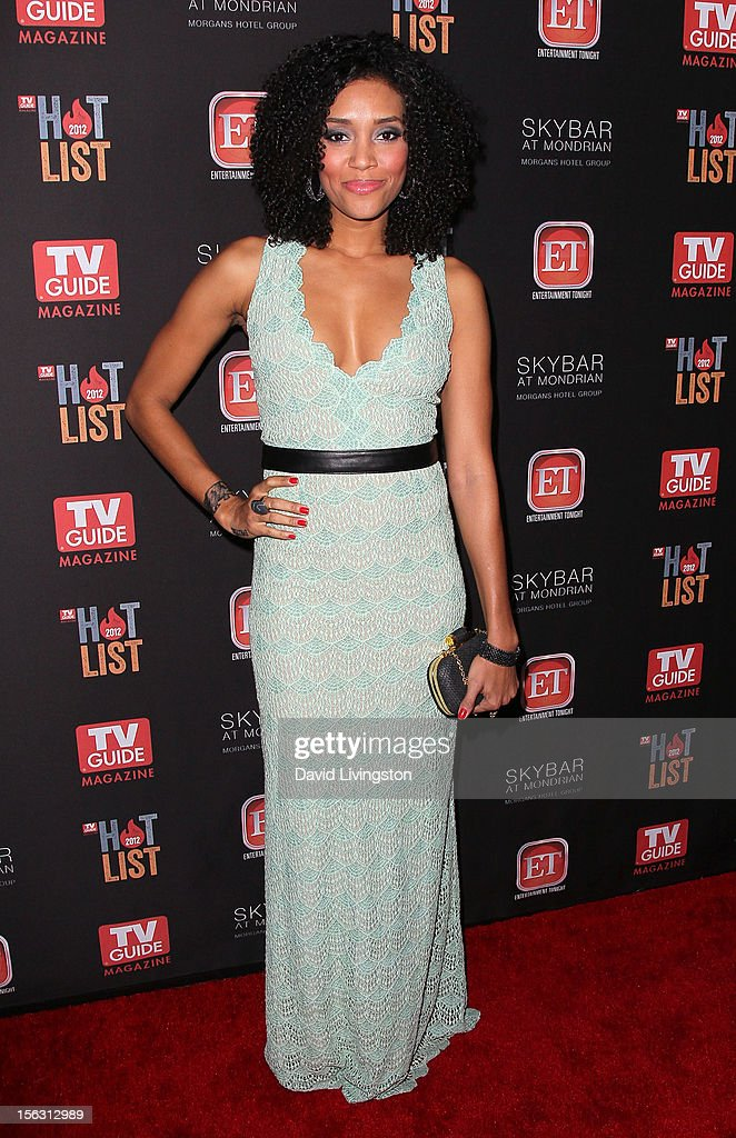 Actress Annie Ilonzeh attends TV Guide Magazine's 2012 Hot List Party at SkyBar at the Mondrian Los Angeles on November 12 2012 in West Hollywood...