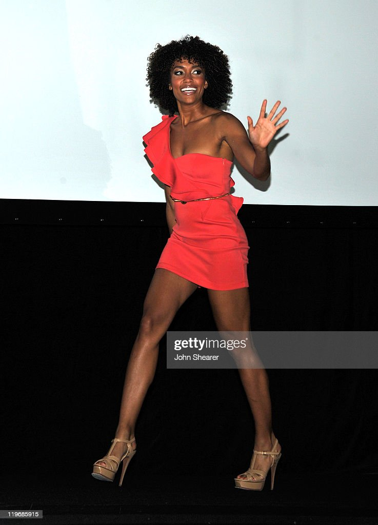 Actress Annie Ilonzeh speaks at 'Charlie's Angels' Panel during ComicCon 2011 at San Diego Convention Center on July 23 2011 in San Diego California