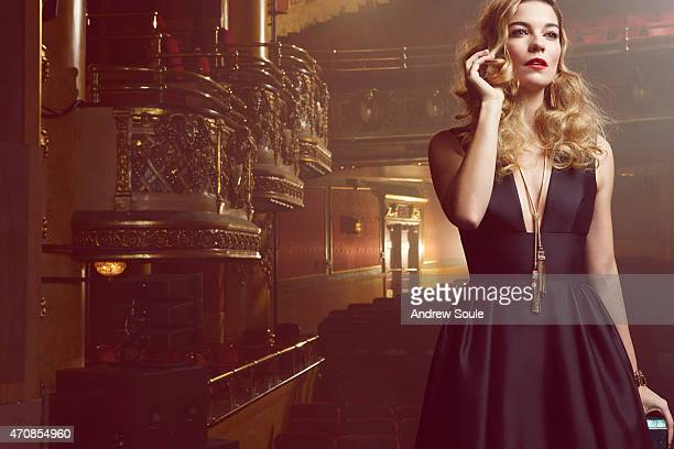 Actress Annie Murphy is photographed for Holt Renfrew on January 28 2015 in Toronto Ontario