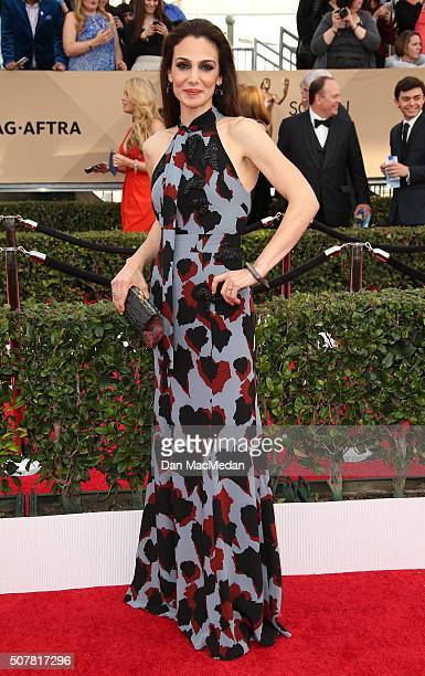 Actress Annie Parisse attends the 22nd Annual Screen Actors Guild Awards at The Shrine Auditorium on January 30 2016 in Los Angeles California