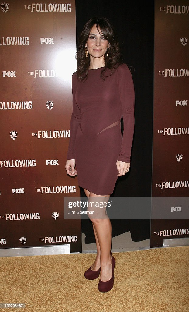 Actress Annie Parisse attends 'The Following' New York Premiere at New York Public Library - Astor Hall on January 18, 2013 in New York City.