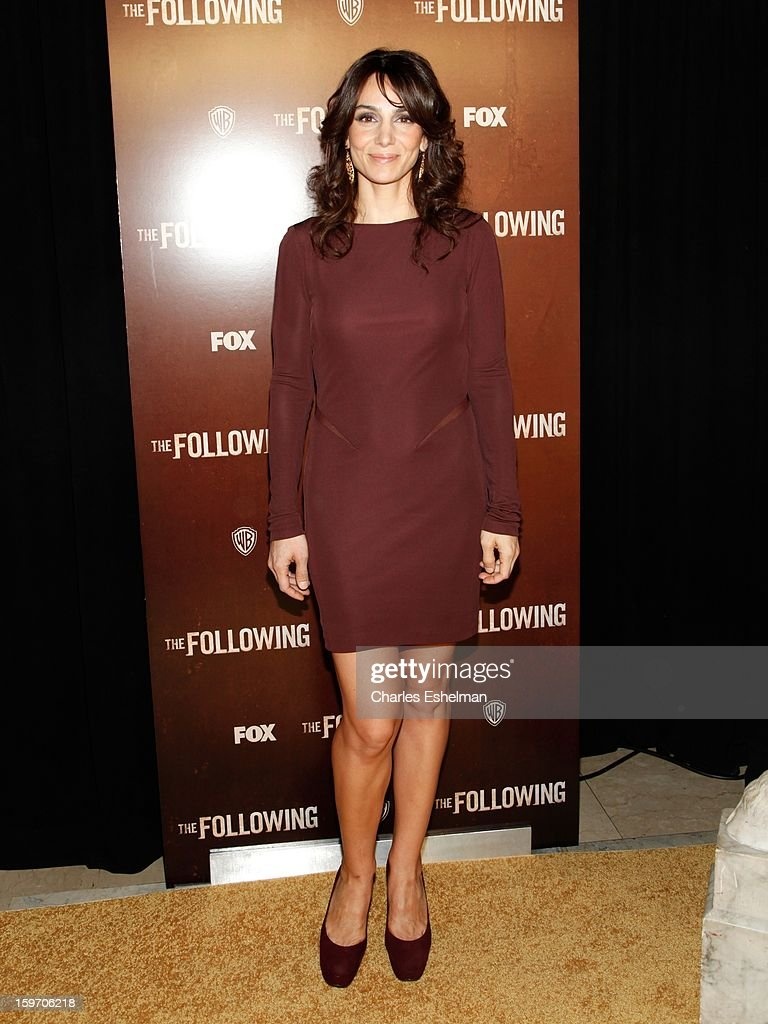 Actress Annie Parisse attends 'The Following' premiere at The New York Public Library on January 18, 2013 in New York City.