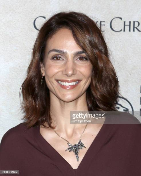 Actress Annie Parisse attends the 'Good Bye Christopher Robin' New York special screening at The New York Public Library on October 11 2017 in New...