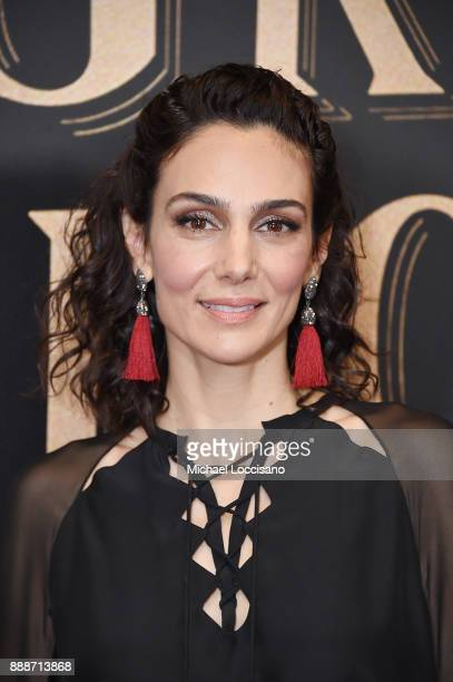 Actress Annie Parisse attends the 'The Greatest Showman' World Premiere aboard the Queen Mary 2 at the Brooklyn Cruise Terminal on December 8 2017 in...