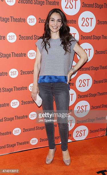 Actress Annie Parisse attends the 'The Way We Get By' opening night at Second Stage Theatre on May 19 2015 in New York City