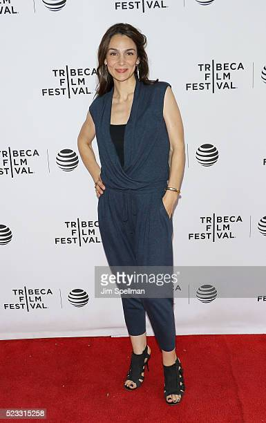 Actress Annie Parisse attends the Tribeca Tune In 'The Night Of' during the 2016 Tribeca Film Festival at SVA Theatre on April 22 2016 in New York...